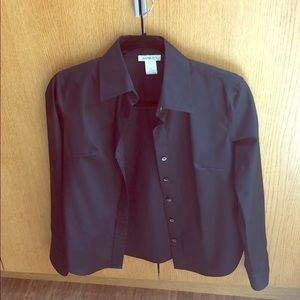 Black button down blouse. XS.
